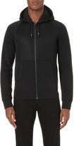 Armani Jeans Contrast mesh cotton hoody