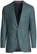 Isaia Fancy Donegal Plaid Sportcoat