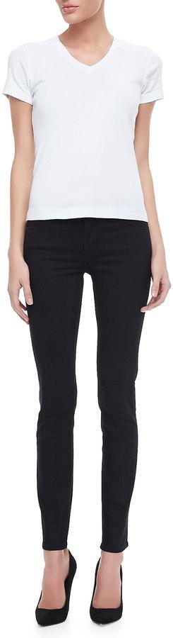 J Brand Jeans Mid-Rise Skinny Jeans, Blue Bird