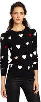 French Connection Women's USA Heart Knit Sweater