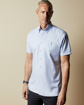 Ted Baker Tall Cotton Oxford Short-sleeved Shirt