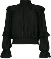 Frame sheer peasant blouse
