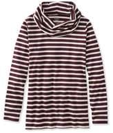 L.L. Bean Pima Cowlneck Tunic, Stripe