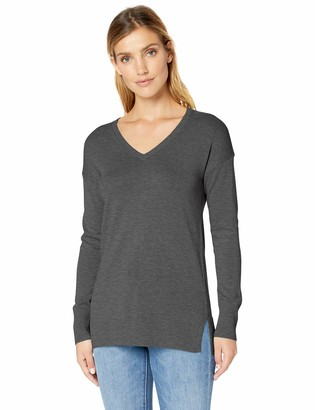 Amazon Essentials Lightweight V-neck Tunic Sweater Pullover