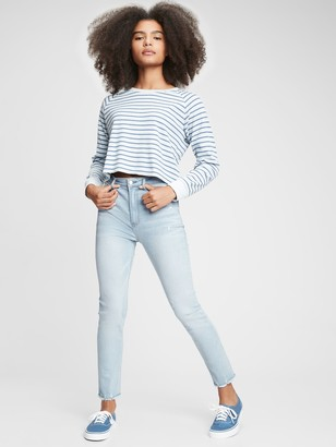Gap Teen Sky High Rise Skinny Ankle Jeans with Stretch