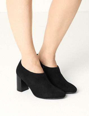 Marks and Spencer Suede Block Heel Shoe Boots