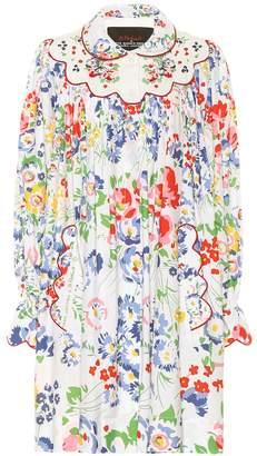 Marc Jacobs x D. Porthault The Smock floral cotton minidress