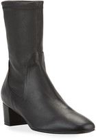 Stuart Weitzman Ernestine Stretch Leather 45mm Booties
