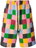 Loewe patchwork shorts