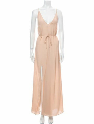 Reformation Plunge Neckline Long Dress w/ Tags Pink