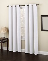 Montego No. 918 Casual Textured Grommet Curtain Panel, 48 x 95 Inch, White