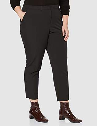 Dorothy Perkins Curve Women's Elastic Back Ankle Grazer Trousers,(Size:)