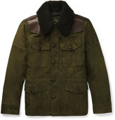 Ralph Lauren Purple Label - Shearling And Leather-trimmed Suede Field Jacket
