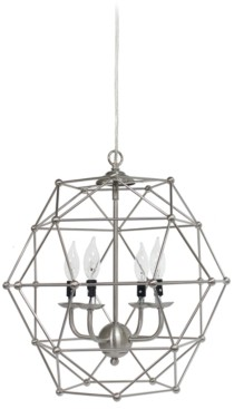 All The Rages Elegant Designs 4 Light Hexagon Industrial Rustic Pendant Light