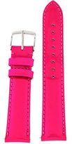 Michele 18mm Bright Pink Patent Leather Strap