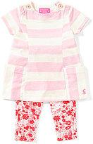 Joules Baby Girls Newborn-12 Months Annie Striped Dress & Floral Leggings Set