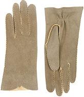 Barneys New York Women's Deerskin Gloves-LIGHT GREY