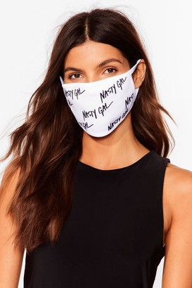Nasty Gal Womens Nothing But a Fashion Face Mask - White - One Size