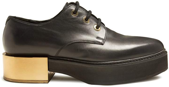 Alexander McQueen Raised-sole lace-up leather shoes