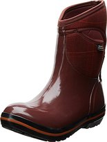 Bogs Women's Plimsoll Prince Of Wales Mid Winter Snow Boot