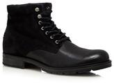 Jack & Jones Black Suede Lace Up Boots