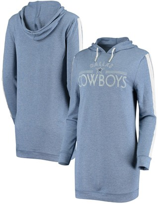 Women's Concepts Sport Heathered Navy Dallas Cowboys Prodigy Hoodie Nightshirt