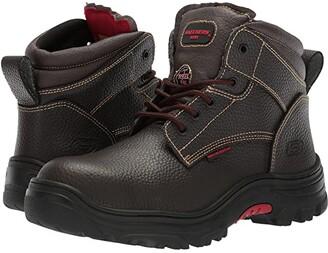 Skechers Burgin - Tarlac (Brown) Men's Industrial Shoes