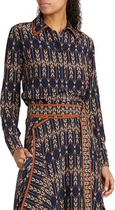 Stella McCartney Willow Printed Silk Button-Down Shirt
