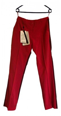 Jonathan Saunders Red Wool Trousers