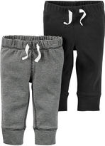 Carter's 2-pk. Grey Stripe and Charcoal Pants - Baby Boys newborn-24m