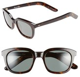 Steven Alan Women's 'Dudley' 47Mm Polarized Retro Sunglasses - Dark Tortoise