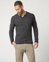 Le Château Tape Yarn Split Neck Sweater