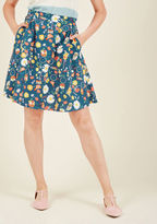 ModCloth Lively Vibe Cotton A-Line Skirt in Countryside in XL