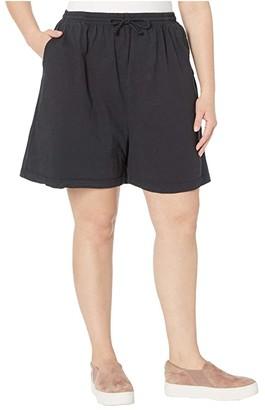 Fresh Produce Plus Size Jersey Shorts (Black) Women's Shorts