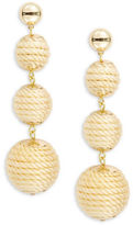 RJ Graziano Graduated Woven Ball Drop Earrings