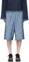Marques Almeida Blue Denim Tracksuit Shorts