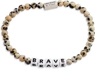 Little Words Project Brave Stretch Bracelet