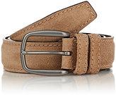 Barneys New York Men's Brushed Suede Belt-TAN