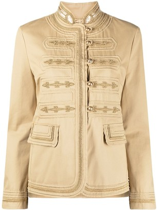 Ermanno Scervino Buttoned Fitted Jacket