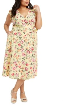 Charter Club Mommy & Me Plus Size Floral-Print Wrap Dress, Created for Macy's
