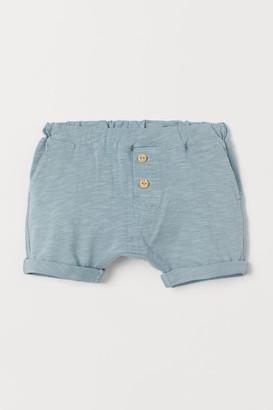 H&M Slub Jersey Shorts - Turquoise