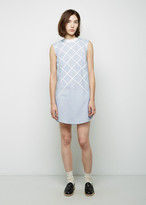 Band Of Outsiders Lattice Appliqu«Éà Shirtdress