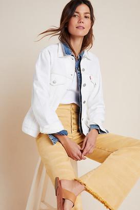 Levi's Ex-Boyfriend Denim Jacket By in White Size XS