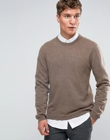 Asos Cashmere Crew Neck Sweater in Light Brown