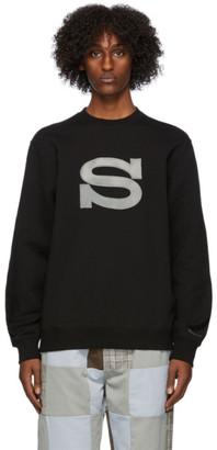 Stussy Black Logo Applique Sweatshirt