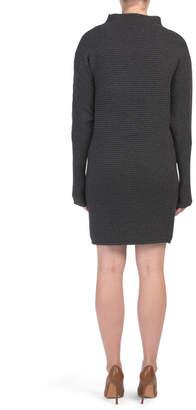 Horizontal Rib Dolman Sweater Dress