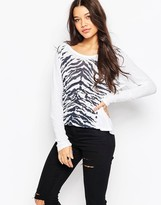 Sundry Animal Print Long Sleeve T-Shirt