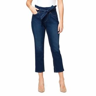 Gloria Vanderbilt Women's Paperbag Straight Leg Cropped Jean