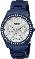 XOXO Women's Rhinestone Accent Dark Enamel Bracelet Watch XO5299A