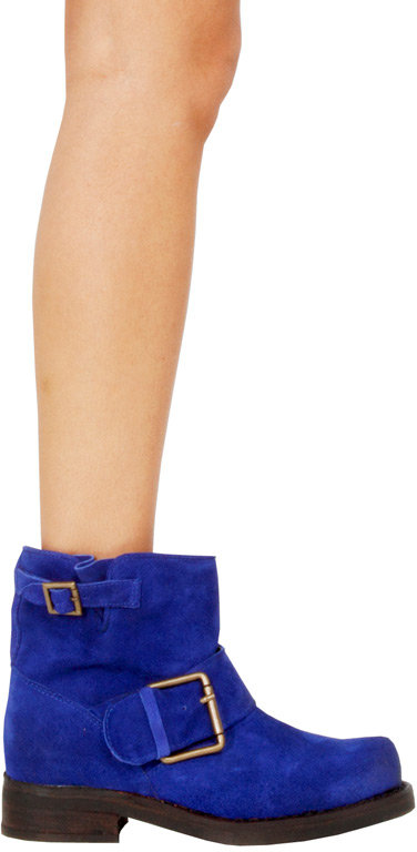 Jeffrey Campbell Blush Bootie in Blue Suede -